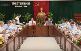 Thường trực Ban Bí thư làm việc với Ban thường vụ Tỉnh ủy Bình Định