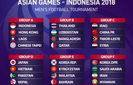 ĐT Olympic Việt Nam cùng bảng ĐT Olympic Nhật Bản tại ASIAD 2018