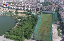 """Bắc Giang: """"Xẻ"""" đất công viên cho mượn làm sân tập golf"""