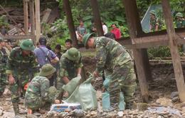 Lai Châu: Bộ đội biên phòng giúp dân khắc phục hậu quả sau mưa lũ