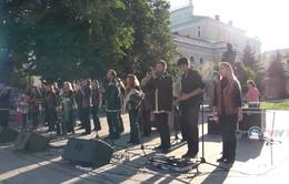 Phóng viên Thể Thao VTV tác nghiệp tại Nga: Lễ hội nhạc Nga tại Nizhny Novgorod