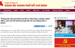 TP.HCM: Kỷ luật nhiều cán bộ đảng viên