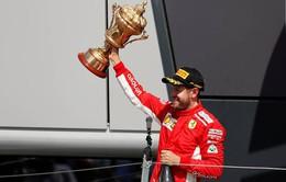 Sebastian Vettel giành chiến thắng kịch tính ở Silverstone, nới rộng khoảng cách trên bảng xếp hạng
