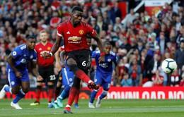 Pogba ghi bàn đầu tiên của Ngoại hạng Anh 2018/19 với quả penalty siêu dị
