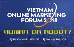 Diễn đàn Tiếp thị trực tuyến 2018 sẽ thảo luận về Robot và Big Data