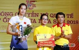 Ảnh: Những danh hiệu xuất sắc của giải bóng chuyền VTV Cup Ống nhựa Hoa Sen 2018