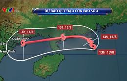 Trong 24 giờ tới, bão số 4 di chuyển theo hướng Đông, nguy cơ cao sạt lở đất và lũ quét