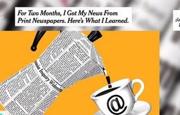 Báo điện tử ngày càng lấn át báo in