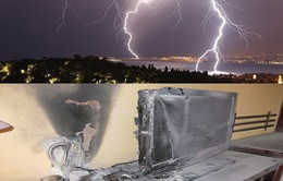 Nhiều hộ dân ở Nghệ An bị sét đánh cháy tivi