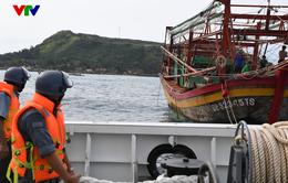 Chi đội Kiểm ngư số 3 bàn giao tàu cá QB 92345 TS và 08 ngư dân bị nạn trên biển
