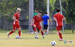 ẢNH: ĐT Olympic Việt Nam tập chiến thuật sẵn sàng đối đầu Olympic Nhật Bản