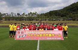 ĐT nữ Việt Nam hòa 2-2 ở trận trận giao hữu đầu tiên trong chuyến tập huấn tại Nhật Bản