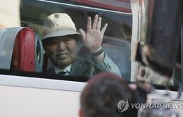 Đoàn Hàn Quốc di chuyển tới địa điểm tổ chức sự kiện đoàn tụ các gia đình ly tán