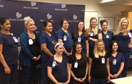 Mỹ: 16 y tá làm việc chung một bệnh viện mang thai cùng lúc