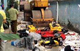 Hưng Yên tiêu hủy gần 8 tấn hàng giả, không rõ nguồn gốc xuất xứ