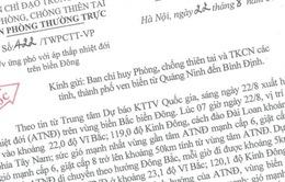 Các tỉnh/TP ven biển từ Quảng Ninh đến Bình Định ứng phó với áp thấp nhiệt đới trên biển Đông