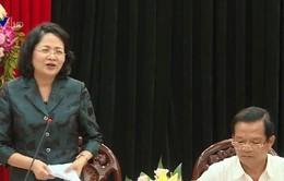 Phó Chủ tịch nước làm việc với tỉnh ủy Quảng Ngãi và Bình Định