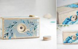 Độc đáo máy ảnh làm từ... gỗ