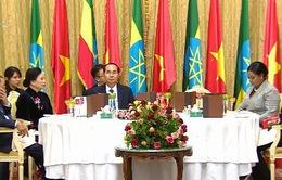 Tổng thống Ethiopia chiêu đãi trọng thể Chủ tịch nước
