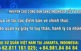 Khuyến cáo công dân Việt Nam sang Indonesia cổ vũ Olympic Việt Nam