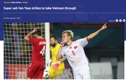 """Trang chủ AFC gọi Văn Toàn là """"Siêu dự bị"""" đưa Olympic Việt Nam vào bán kết ASIAD 2018"""