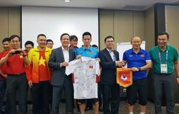 ASIAD 2018: Olympic Việt Nam nhận sự động viên bất ngờ trước trận bán kết gặp Olympic Hàn Quốc