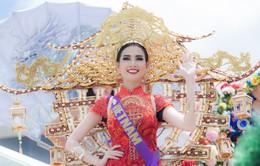Phan Thị Mơ diện trang phục nặng 15kg đi thi nhan sắc quốc tế