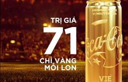 Coca-Cola trao tặng lon vàng thay lời chúc mừng đến đội tuyển Olympic Việt Nam