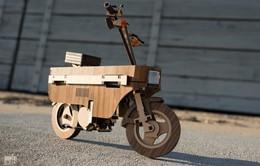 Ngả mũ với xe gắn máy chế tác hoàn toàn bằng... gỗ