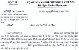 Bộ Y tế: Xác minh và báo cáo thông tin trường hợp tử vong sản phụ tại Cà Mau