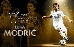 Luka Modric giành danh hiệu cầu thủ xuất sắc nhất năm của UEFA