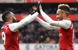 """Huyền thoại Arsenal kêu gọi Unai Emery chăm dùng """"song sát"""" Aubameyang-Lacazette"""