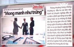 """Hợp tác đầu tư của DN Việt: """"Mong manh như trứng"""""""