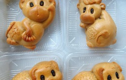 Bánh Trung Thu mini hình con thú được ưa chuộng