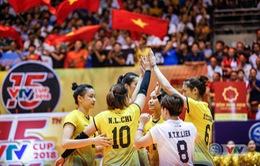 VTV Cup Ống nhựa Hoa Sen 2018: ĐT Việt Nam thắng nghẹt thở Tứ Xuyên (Trung Quốc) để vào chung kết