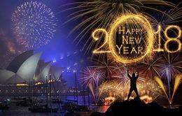 Những hình ảnh tuyệt đẹp tại các quốc gia chào đón năm mới 2018