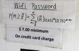 """""""Vò đầu bứt tai"""" với những mật khẩu Wi-Fi thách đố người xem"""