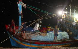10 ngư dân Bình Định thoát nạn