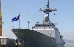 Hôm nay (11/9) tàu khu trục Hải quân Hàn Quốc đến Đà Nẵng.