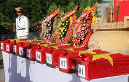 Bình Thuận: Truy điệu và an táng 9 hài cốt liệt sỹ