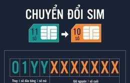 00h00 ngày mai (15/9), các nhà mạng bắt đầu chuyển đổi thuê bao 11 số sang 10 số