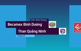 VIDEO: Tổng hợp diễn biến Becamex Bình Dương 1-1 Than Quảng Ninh (Vòng 22 Nuti Café V.League 2018)