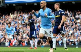 David Silva ghi bàn thứ 50 cho Man City sau 30 đường chuyền