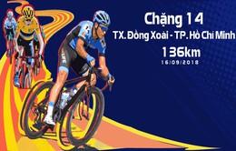 Lộ trình chặng 14 giải xe đạp quốc tế VTV Cup Tôn Hoa Sen 2018