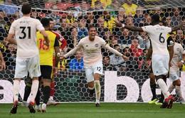 """VIDEO Watford 1-2 Man Utd: Quỷ đỏ ngắt mạch thắng của """"hiện tượng"""""""