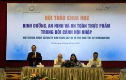 Dinh dưỡng, an ninh và an toàn thực phẩm trong bối cảnh hội nhập