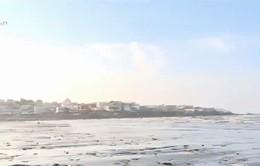 Bất lực với hàng trăm tấn rác ngự trên bãi biển