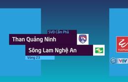 VIDEO: Tổng hợp diễn biến trận đấu Than Quảng Ninh 2-2 Sông Lam Nghệ An (Vòng 23 Nuti Café V.League 2018)