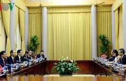 Chủ tịch nước Trần Đại Quang tiếp Chánh án TAND tối cao Trung Quốc