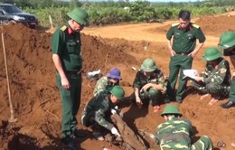 Phát hiện và quy tập 11 hài cốt liệt sĩ tại nông trường Dốc Miếu